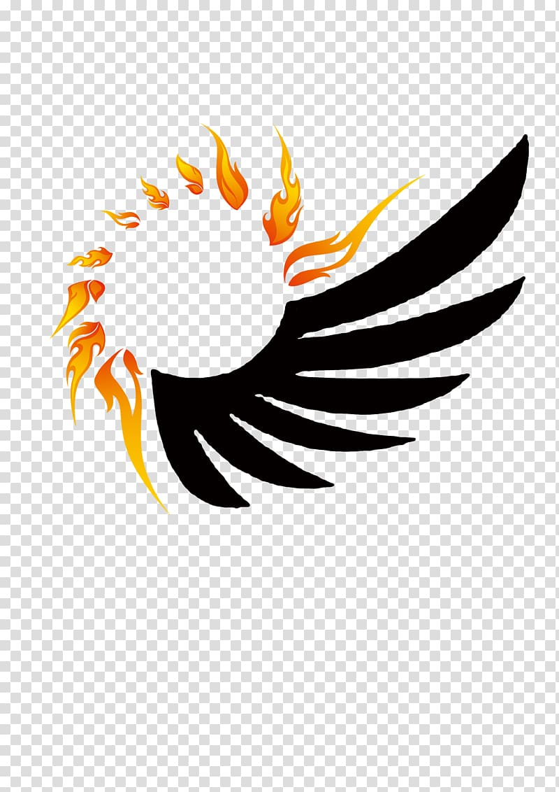 Wing Flame Fire, Fire Wings Design transparent background.