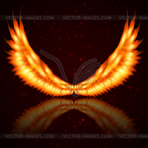 Background with fire wings.