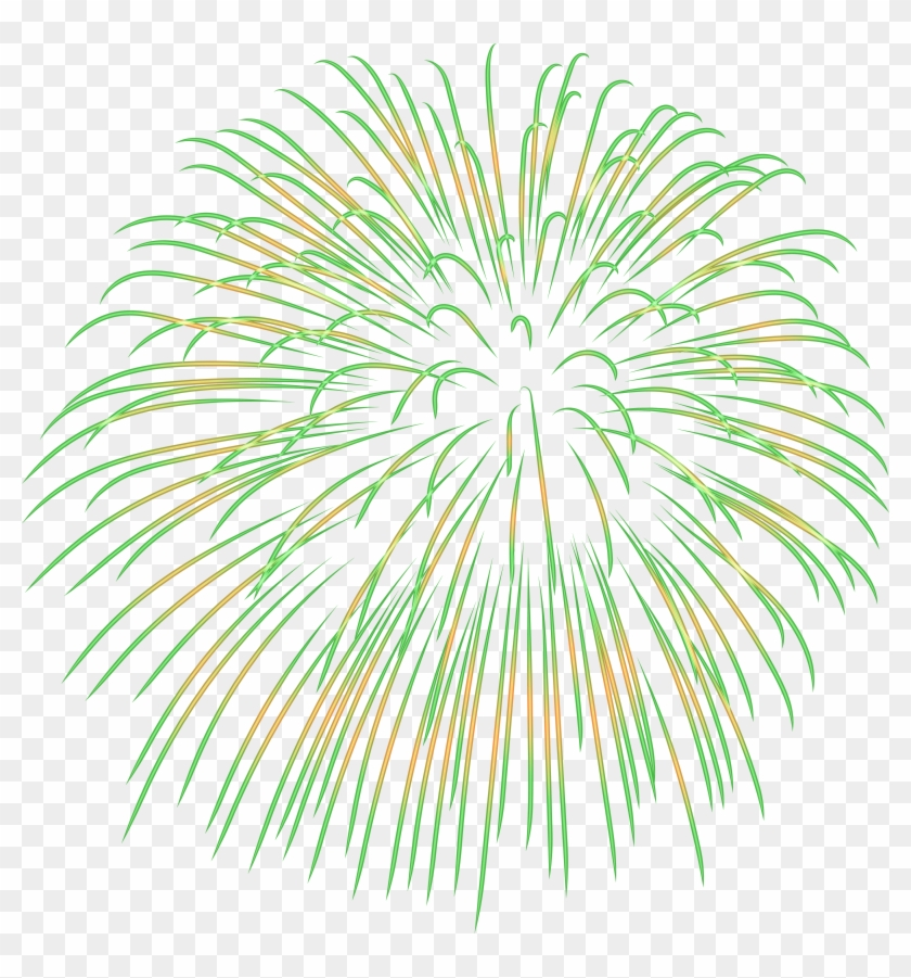 Firework Green Transparent Png Image.