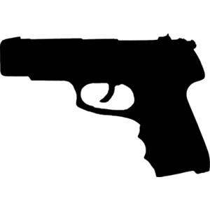 Gun silhouette clip art.
