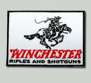 Details about Winchester patch Iron on Embroidered Pistols Guns Rifles  Shotguns Firearms Logo.