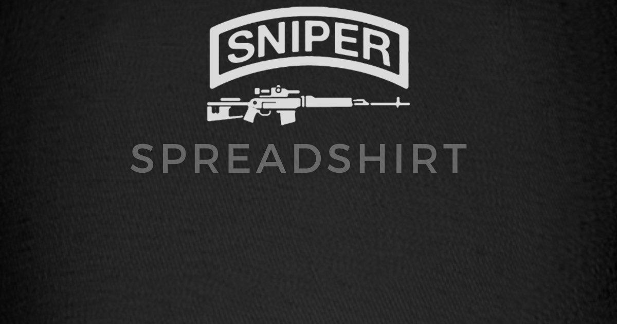 Sniper Rifle firearms Logo Baseball Cap.