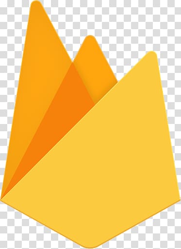 Yellow and orange , Firebase Logo transparent background PNG.