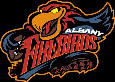 Albany Firebirds logo.