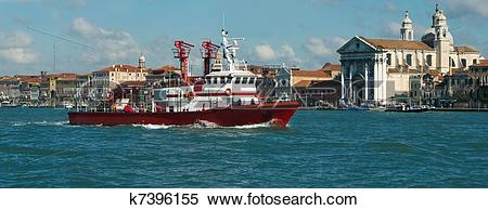 Stock Image of Fire boat k7396155.