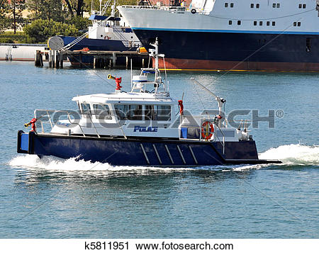 Stock Photography of Police Fire Boat k5811951.