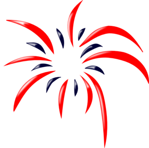 red white and blue firework clipart #11