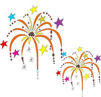 New Year's Happy Birthday Clipart.