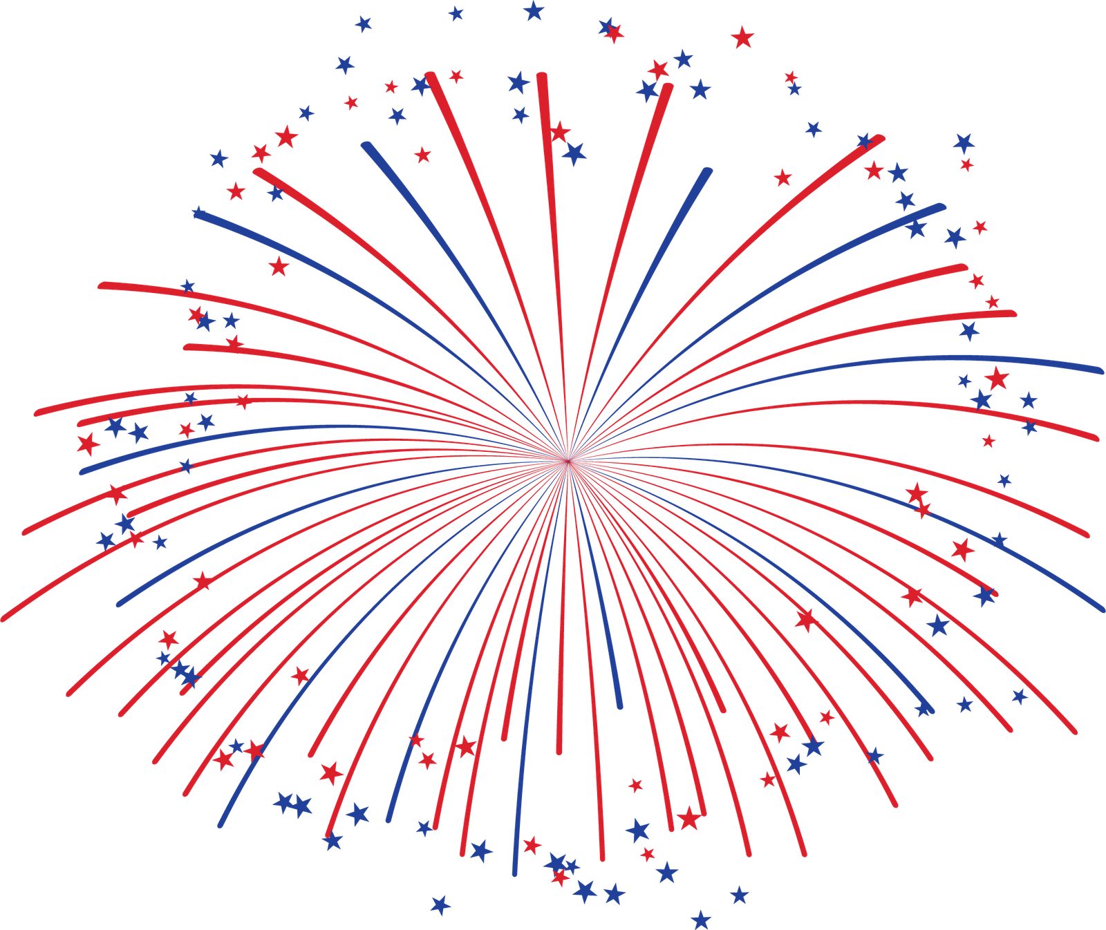 red white and blue firework clipart #13