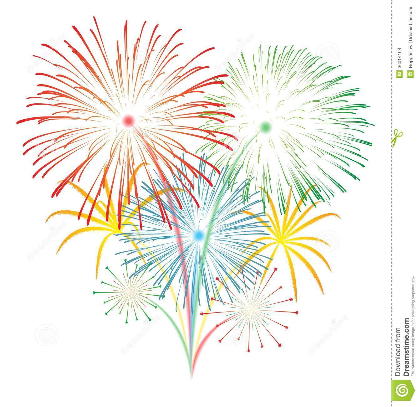 Fireworks Transparent Clipart.