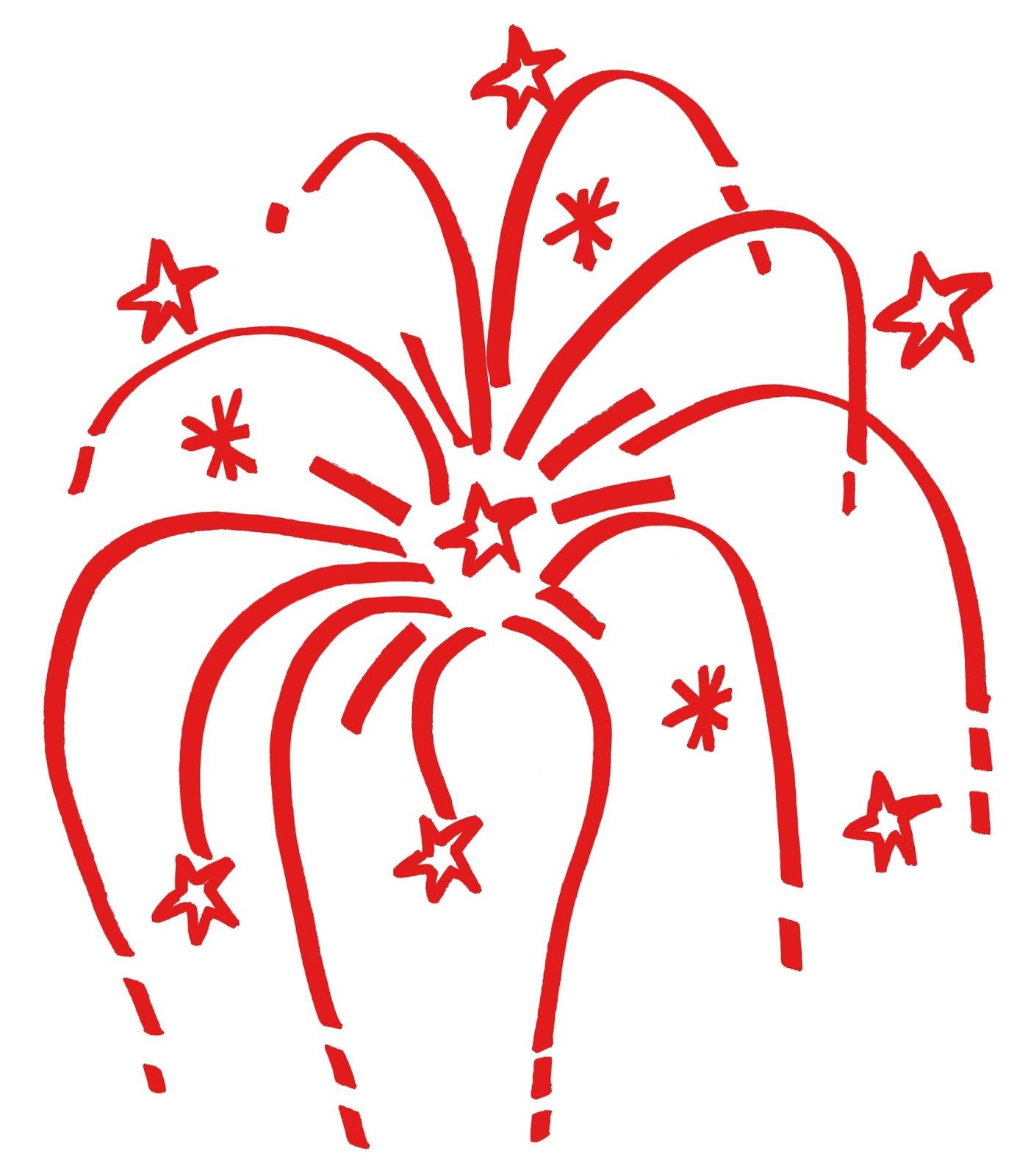 Red Fireworks Clip Art.