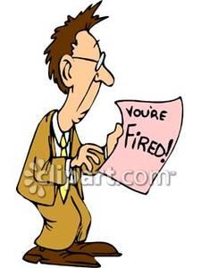 Fired Job Clipart.
