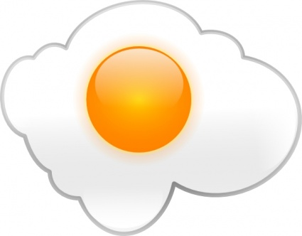 Fried Egg clip art Free Vector.