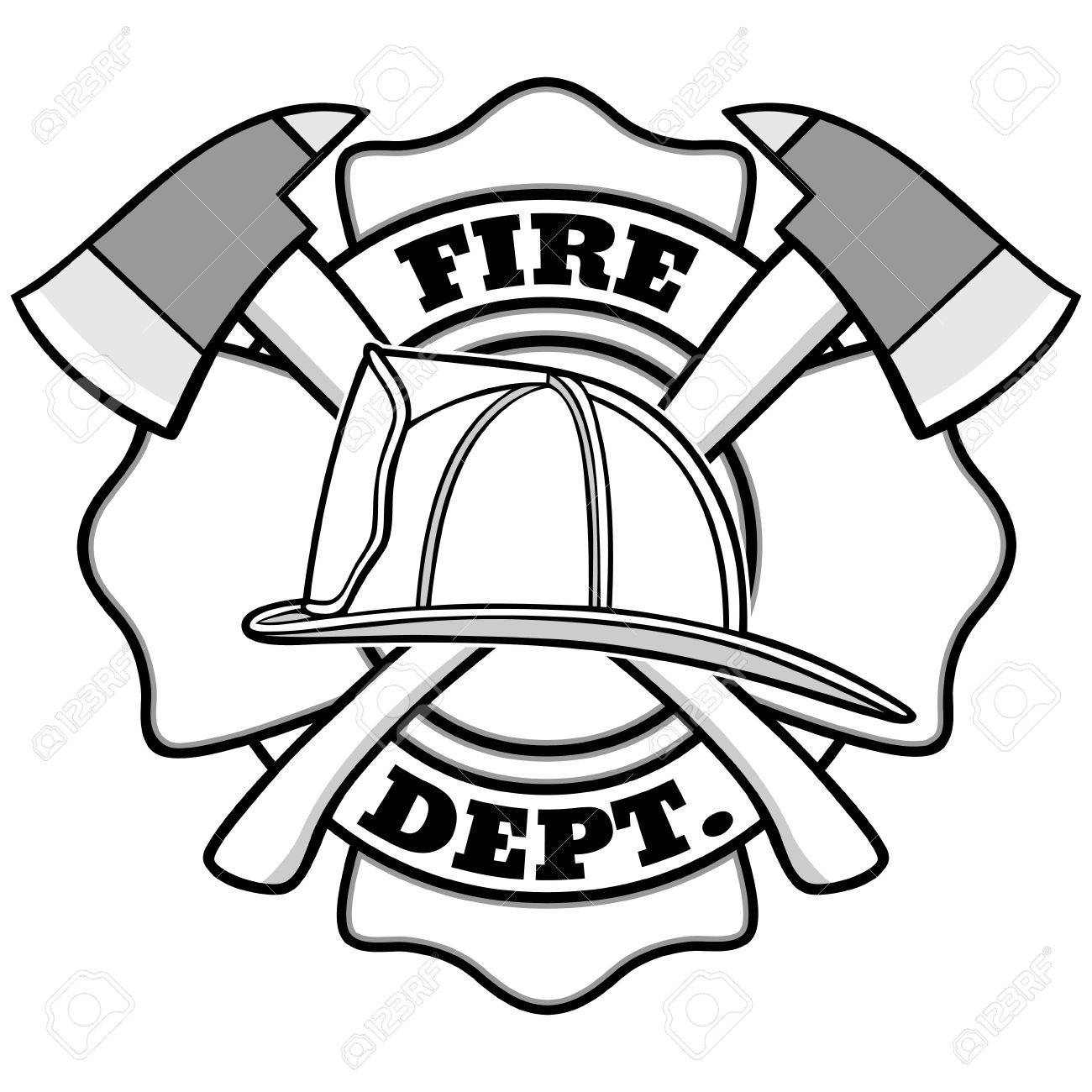 Firefighter Badge Illustration.