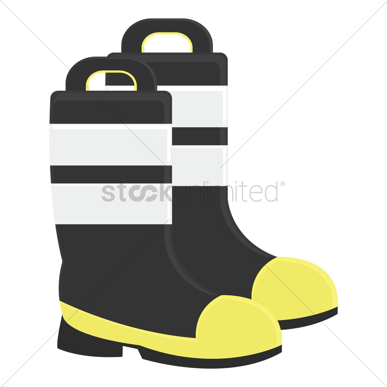 Fireman Boots Clipart.