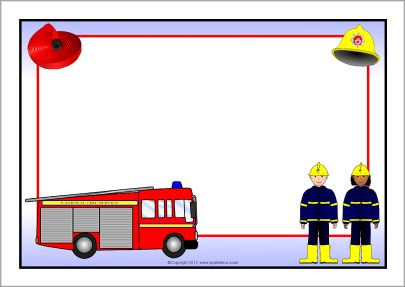 Fire Service A4 page borders (SB8927).