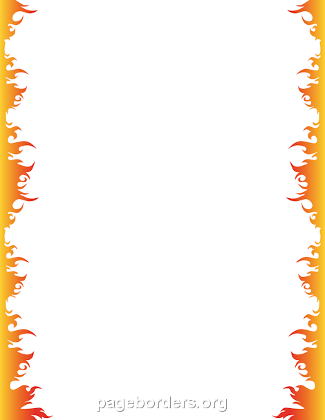 Fire Border: Clip Art, Page Border, and Vector Graphics.