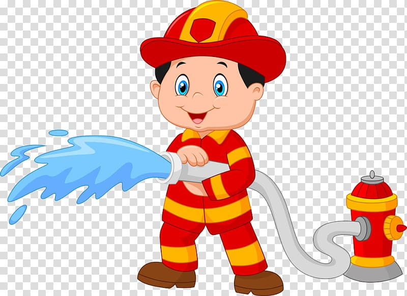 Fireman illustration, Firefighter Cartoon Fire hydrant , of.