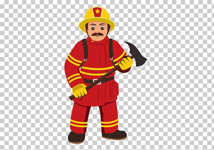 Firefighter Cartoon , fireman PNG clipart.