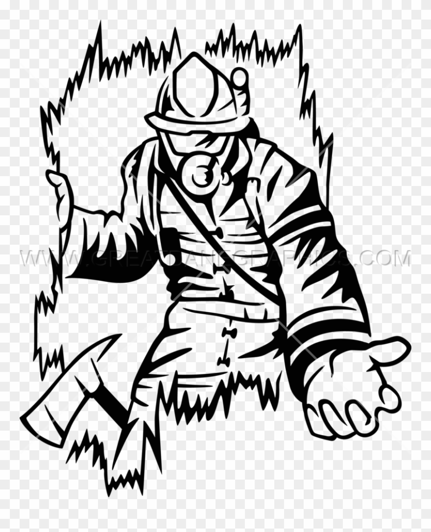 Free Firefighter Clipart Black And White Source.