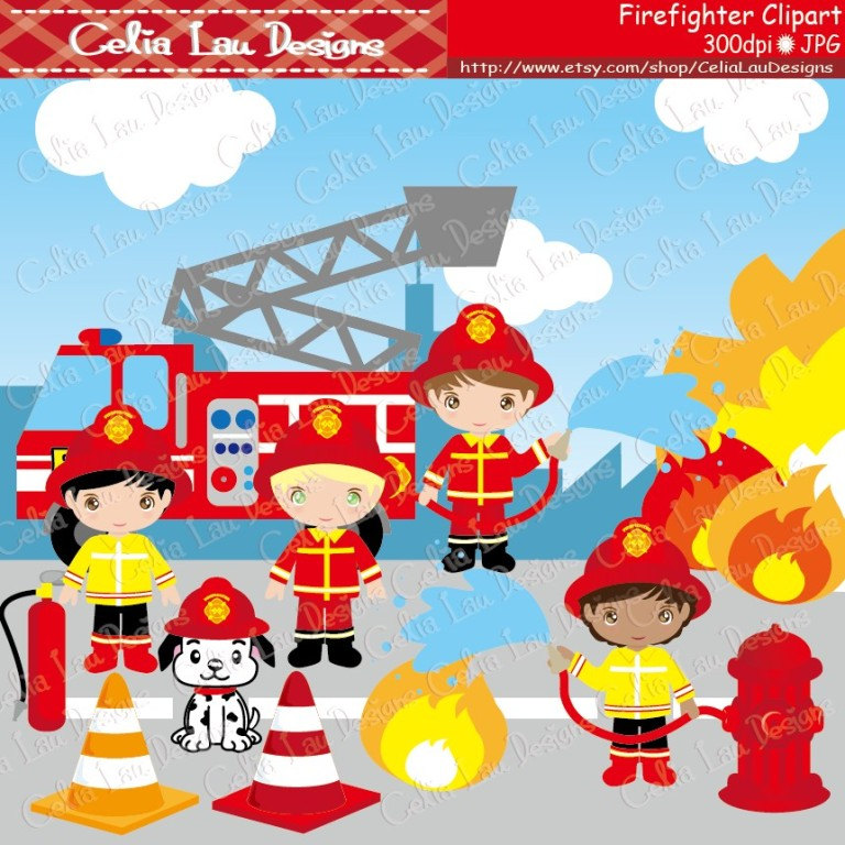 Fireman Clipart For Kids.