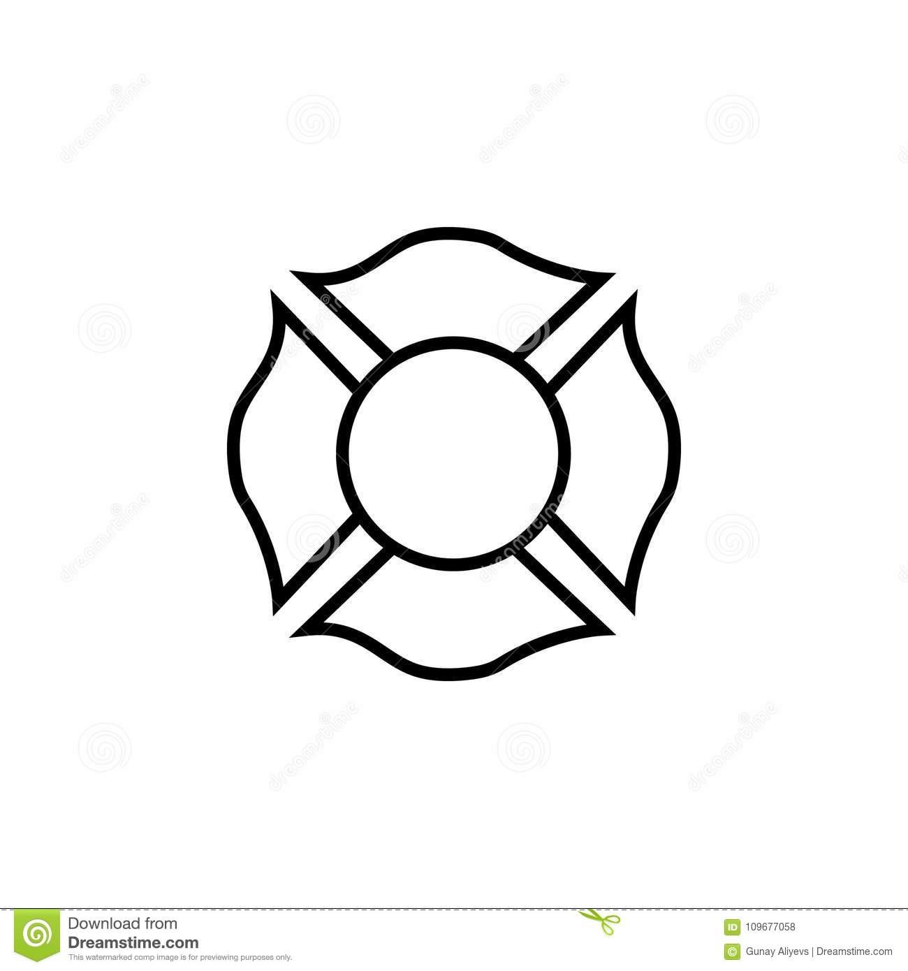 Firefighter Emblem Stock Illustrations.