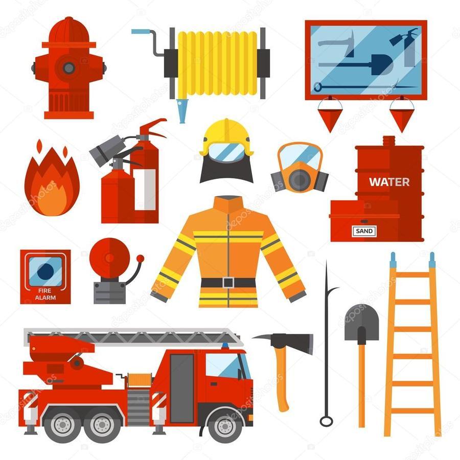 Firefighter clipart equipment, Firefighter equipment.