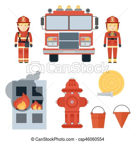 firefighter and equipment.