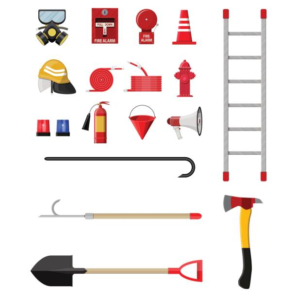 Best Firefighter Ladder Illustrations, Royalty.