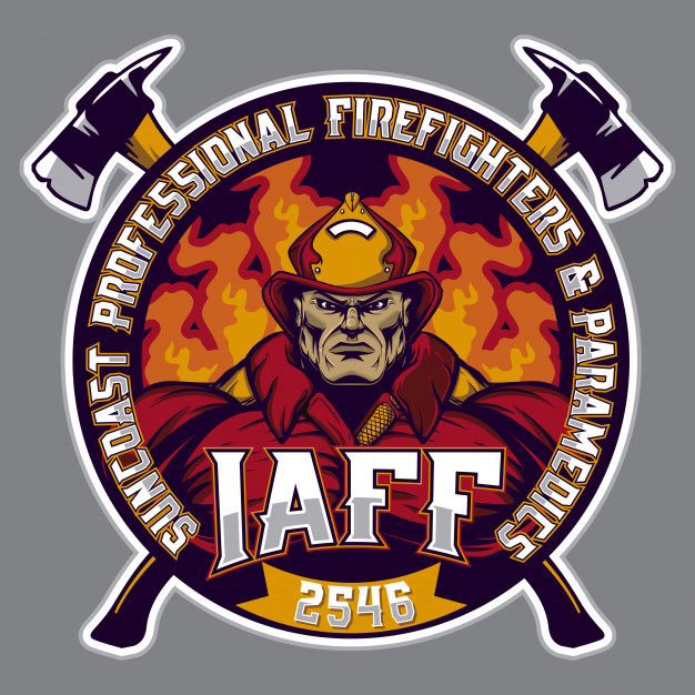 Firefighter logo Vector.