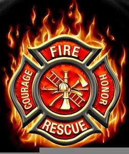 Fire Maltese Cross Clipart.