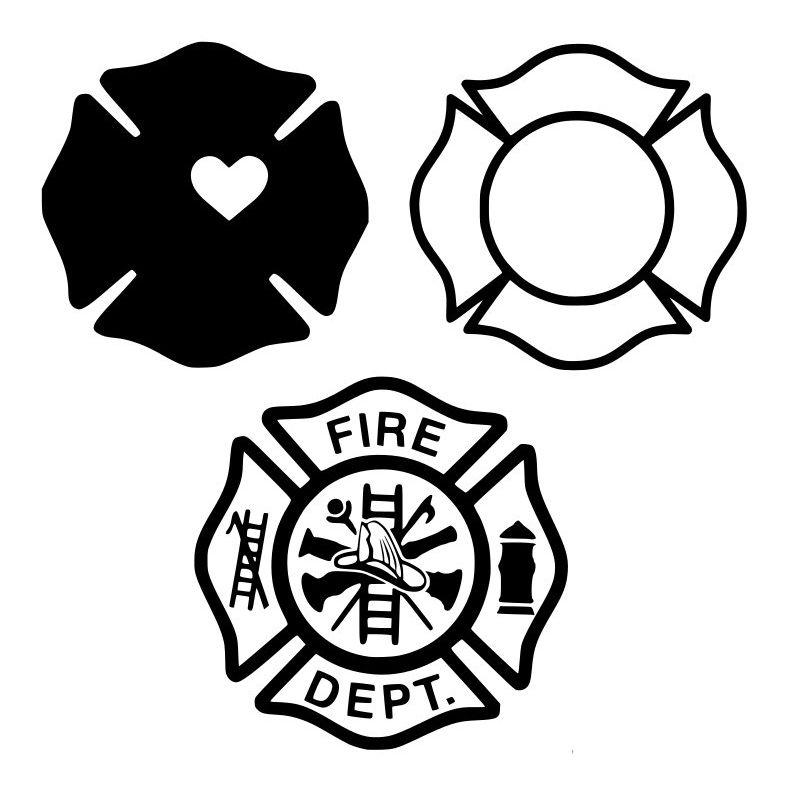 Firefighter Maltese Cross SVG Package.
