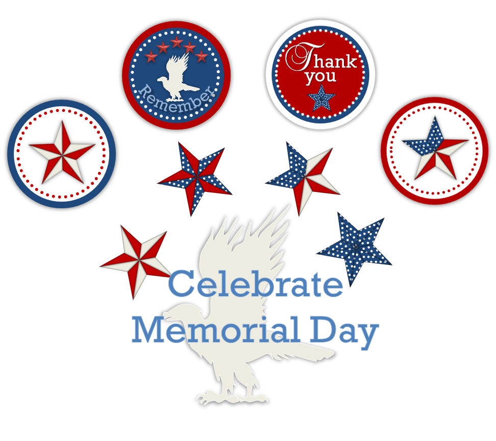 Memorial Day 2016 Clipart.