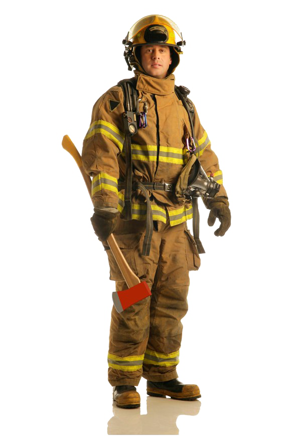 Firefighter PNG Transparent Photo.