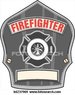 Firefighter Helmet Badge Clip Art.