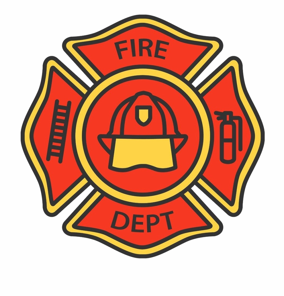 Firefighter Badge Png Picture.