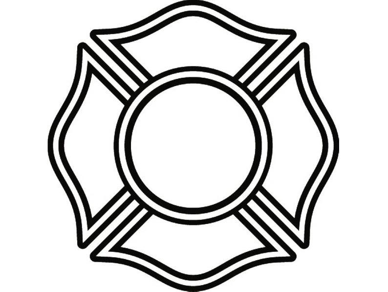 Firefighter Shield #9 Firefighting Shield Rescue Volunteer Equipment  Fireman Fighting Fire Emblem Label .SVG .PNG Vector Cricut Cut Cutting.