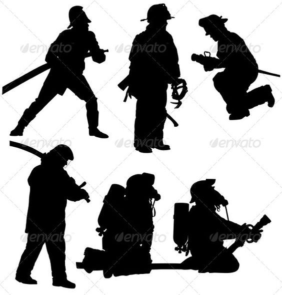 Firefighter Silhouette.