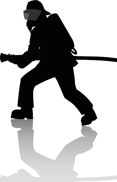Best Firefighter Silhouette Illustrations, Royalty.