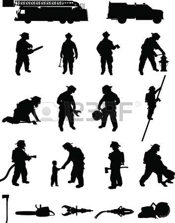 Firefighter Silhouette Vector Clipart Free 20 Free