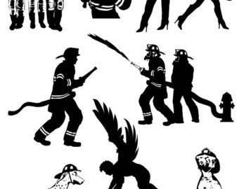 Firefighter Silhouette Vector Clipart Free Clipground