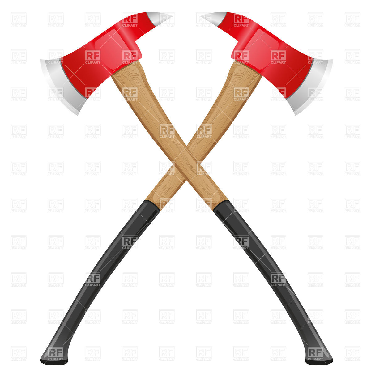 Firefighter axe Vector Image #19340.
