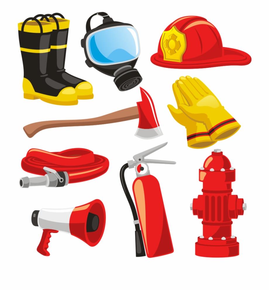 Firefighters Helmet Bunker Gear Fire Engine Clip.