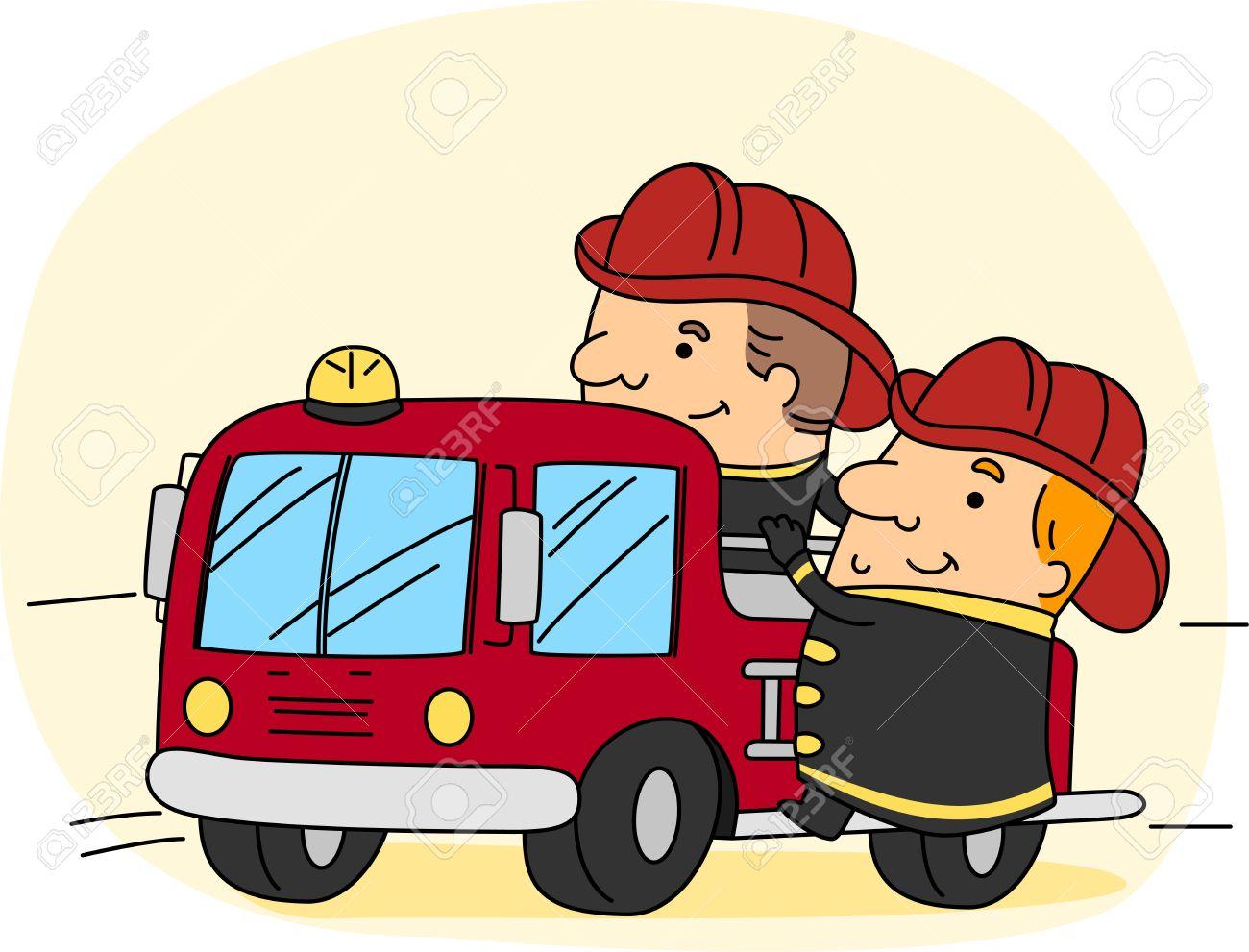 Firefighter Work Clipart.
