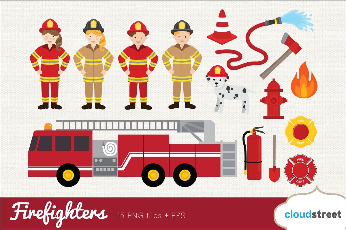 Firefighters Clip Art.