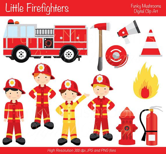 Thank you firefighters clipart.