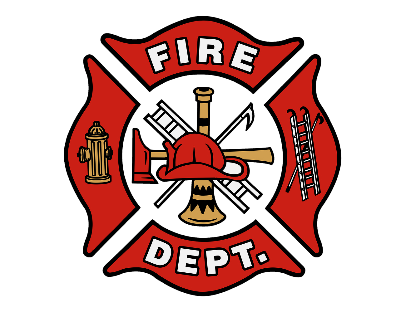 Meaning Fire Department logo and symbol.