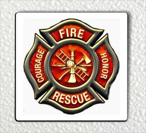 Details about FIREFIGHTERS LOGO #2 FRIDGE MAGNET.