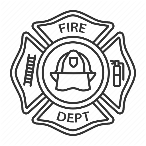 \'Firefighters. Linear. Outlines\' by bsd studio.