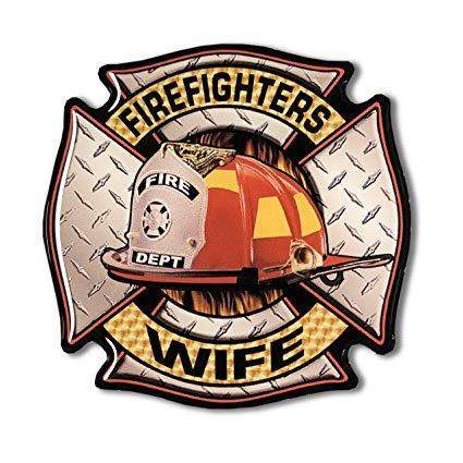 Amazon.com: FIREFIGHTERS WIFE Sticker Maltese cross Domed.